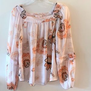 LC Lauren Conrad Boho Peasant Top ~ Size Small